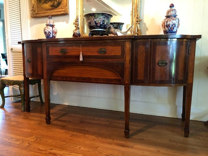 beautiful large antique English sideboard, not on site.  Call if interested.  $4200