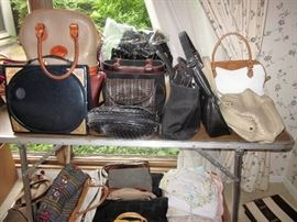 LOTS OF NICE PURSES, GLOVES AND SCARVES