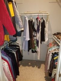 There will be a lot more clothes than this when we get done! Nordstrom, Chico's, and more.