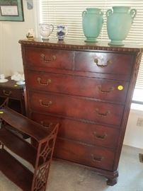 Very nice 6 Drawer Highboy Dresser with Detail.  This also has matching Side Chests.