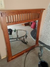 Mission Style Mirror with Beveled Glass