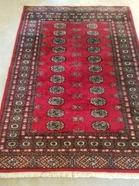 4.2 x 6' 100% Wool Handknotted Pakistan Carpet in excellent condition