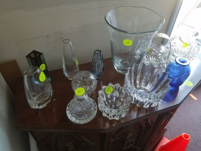 Some excellent Swedish and other glass. Some have maker's mark on bottom.