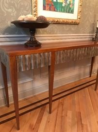 Silver gilt accents on server