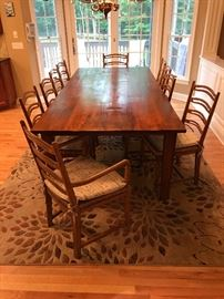 Huge solid wood table