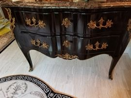 Black French Antique Entry Piece