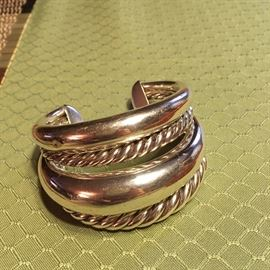 "42mm ""PURE FORM"" Modernist Cuff Bracelet by David Yurman...VERY RARE DESIGN!"
