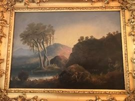 Ignaz Raffalt orignal oil on canvas. Approx. 20 x 14, beautiful original condition. Illuminated scene!!