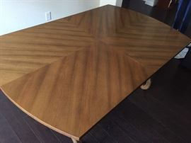 Hardwood table, absolutely gorgeous! Rare quality.
