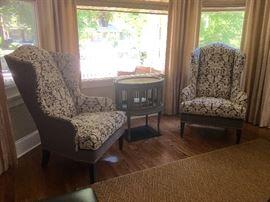 Lot # 4 pair Ethan Allen wing chairs 1200.00 pr. (originally 3000.00 pr.)