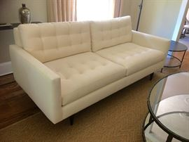 "Lot #5 Crate and Barrel ""Petrie"" Apartment sofa 750.00"