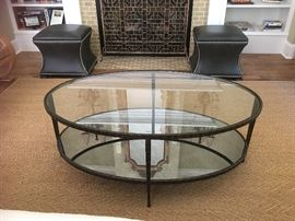 "Lot#6 Crate and Barrel ""Claremont"" coffee table"