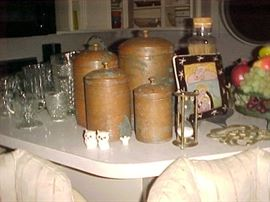 Copper Canister Set & misc.