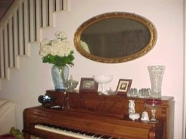 Oval Mirror, Vases & Collectibles
