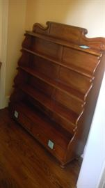 "display shelf/rack.  perfect for plate collection. 48"" wide x 54"" tall.  Antique, but has been refinished"