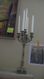 pair of decorative candlestick holders