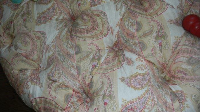ottoman fabric detail