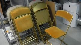 set of vintage folding chairs