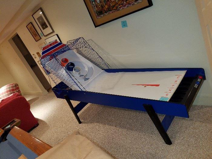 skee-ball game. 7 feet long