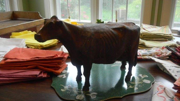 heavy metal decorative cow