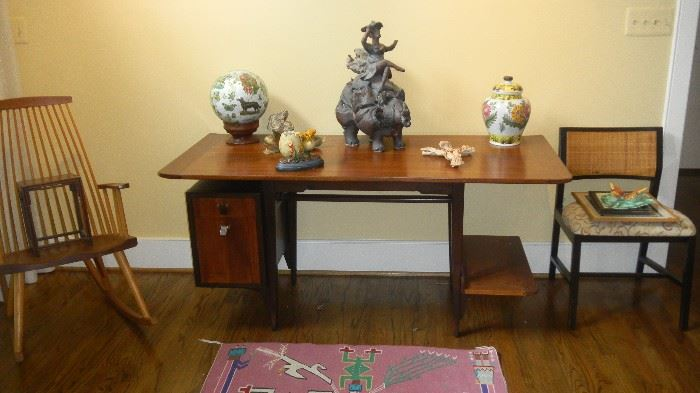 mid century modern desk by Dunbar (there is a reserve on this piece)