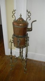 copper coffee urn, antique from India