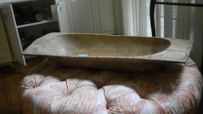 large decorative wooden bowl.  48 long