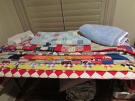 Handmade quilts, approx full size.  Beautifully stitched and in almost perfect condition