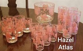 Hazel Atlas Pink Elephant Set