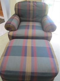 CHAIR AND MATCHING OTTOMAN