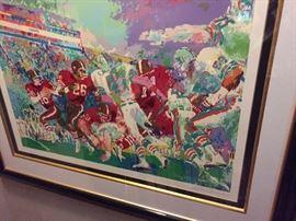 Leroy Neiman. San Francisco 49ers vs. Miami Dolphins.