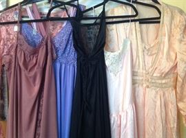 Large collection of night gowns, lingerie and slips from Madame D'z Vintage  Acquisitions.