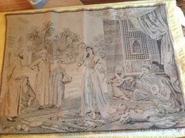 This heavy woven tapestry would look so beautiful mounted and framed.