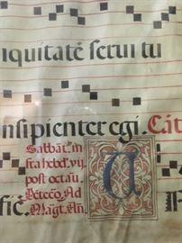 Detail of Gregorian Chant leaf