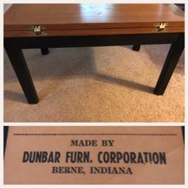 Mid Century Modern Dunbar game table