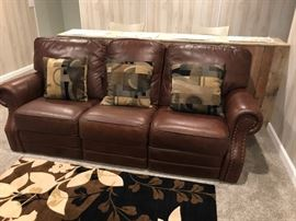 Smith Bros leather sofa
