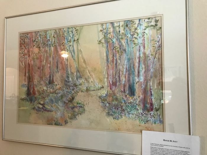 Watercolour signed Margie McAvoy
