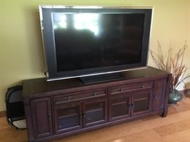 Sold TV only, TV cabinet available