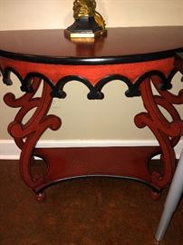 French curve entryway table