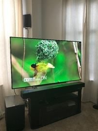 "65"" LG TV 4K OLED with blueray dvd, and Apple TV, Bose Atmos sound bar and subwoofer"