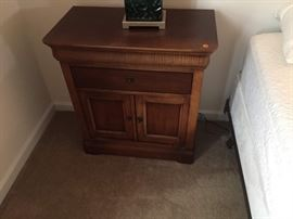 Night stand with 2 drawers and cabinet, part of set