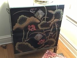 Stacking lacquer hand painted chests