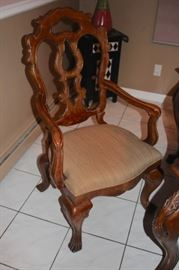 Like New Country French Dining Room Table and 8 Chairs