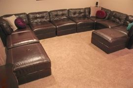 Oversize Leather Sectional that can be split into Two Sectionals