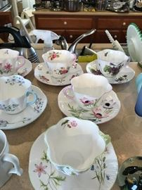 Nice Old Teacups and Saucers