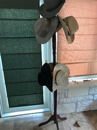 Hat Rack and Hats