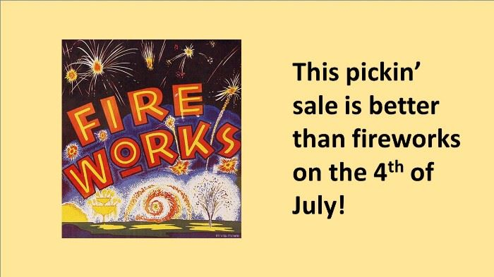 pickin sale explosion