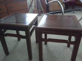 Pair of Antique Solid Rosewood Chinese Tables