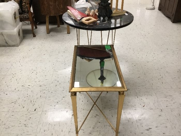 Mirror top table and ice cream table