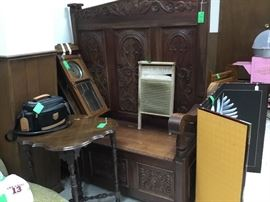 Very large ornate parson's bench - could be used in a business or a church